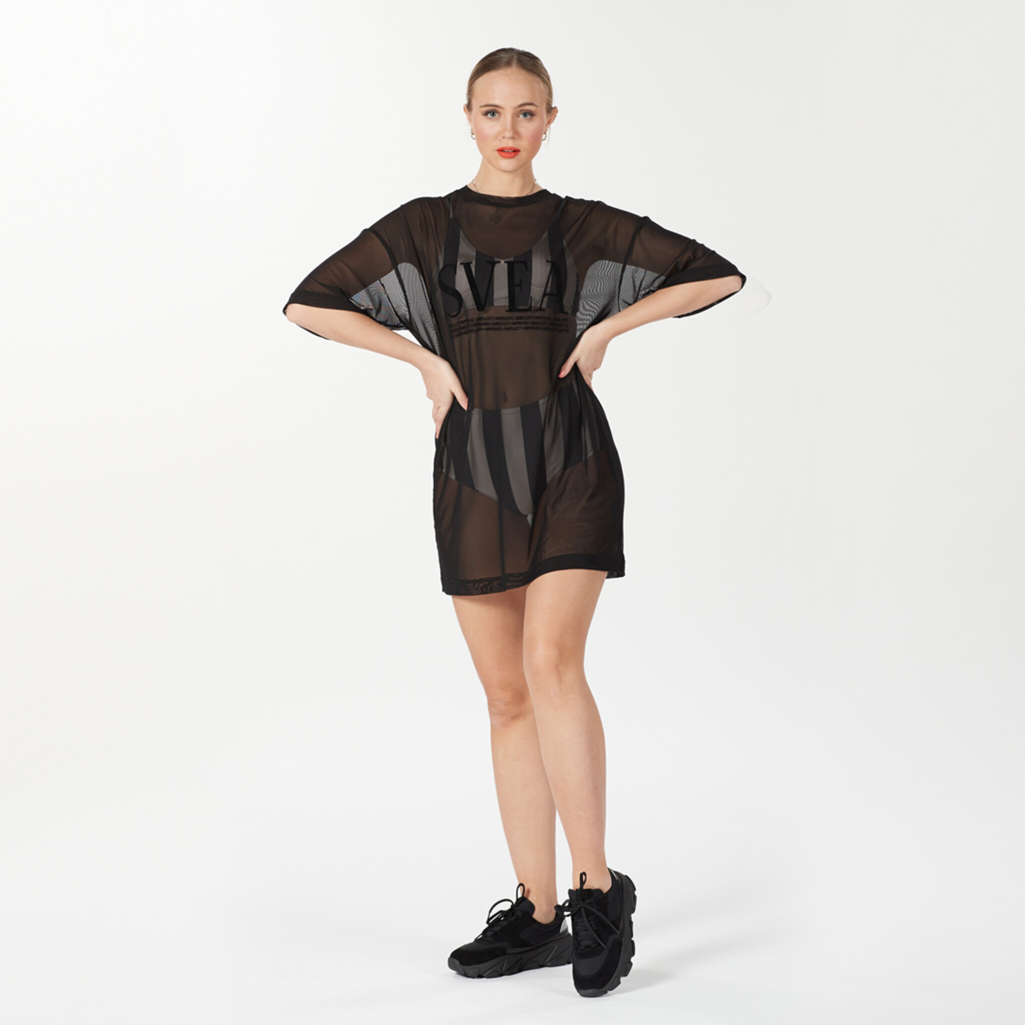 W. Mesh T-Shirt Dress