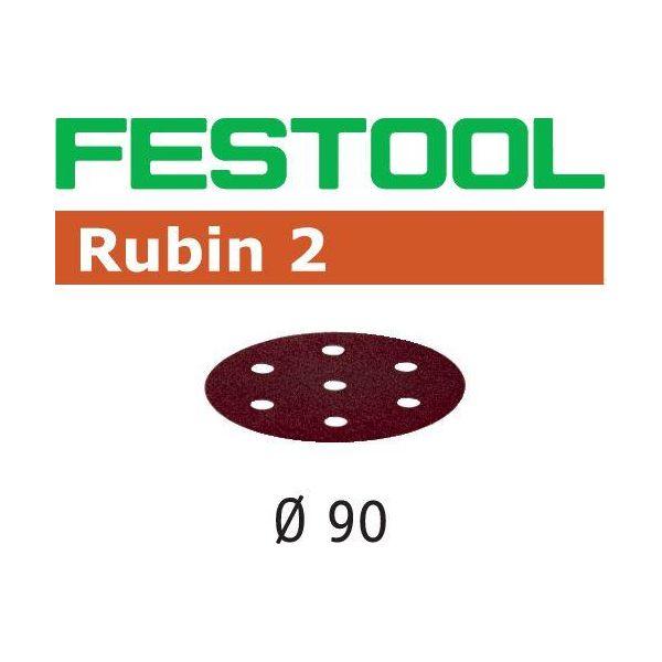 Festool STF RU2 Hiomapaperi 90mm, 6-reikäinen, 50 kpl P60