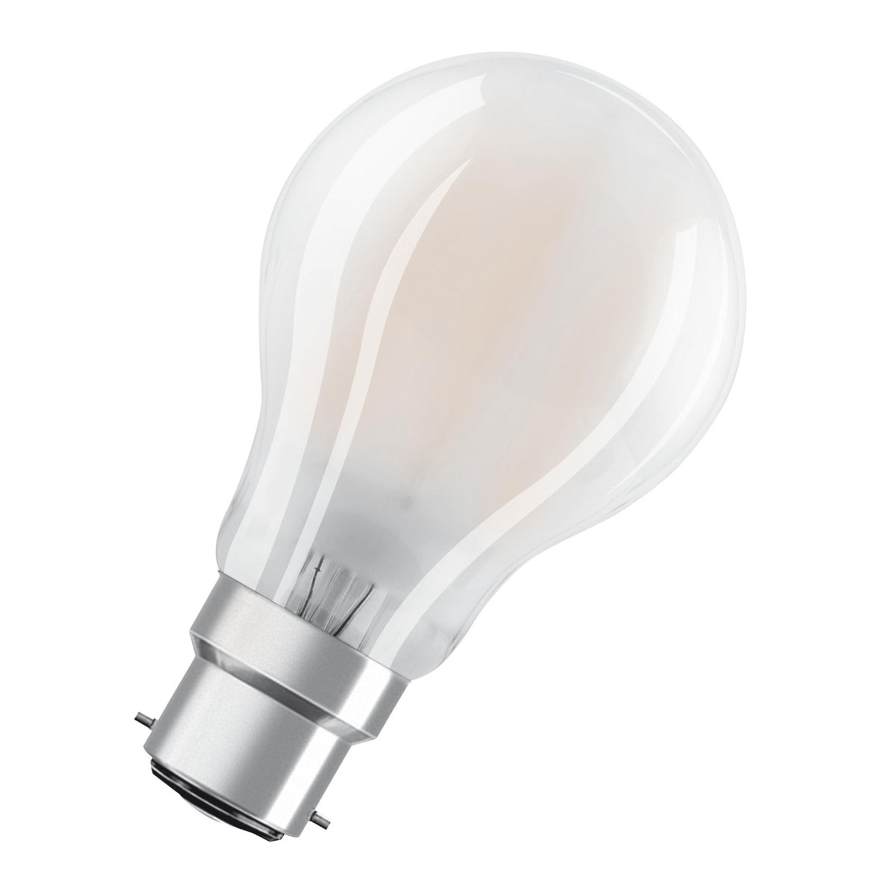 OSRAM-LED-lamppu B22d Classic 827 7W himmennettävä
