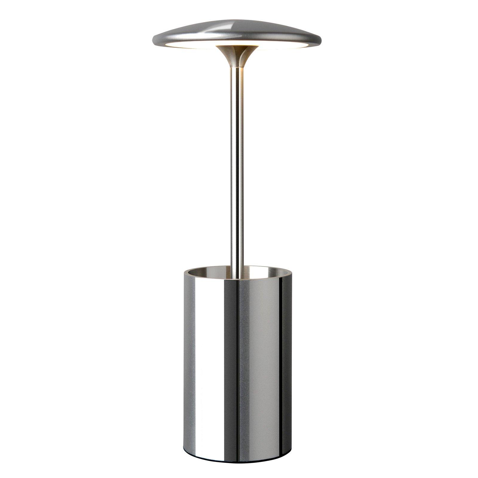 LED-bordlampe Pott med beholder, krom