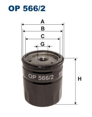 Öljynsuodatin FILTRON OP 566/2