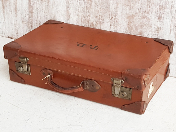 Old Leather Suitcase Brown