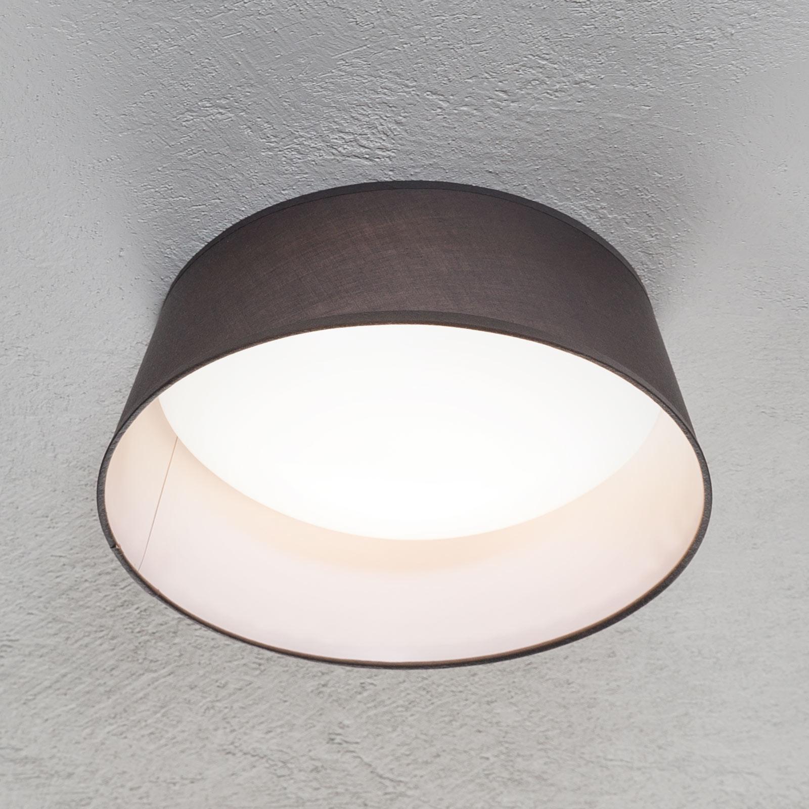 LED-kattovalaisin Ponts, harmaa tekstiilivarjostin