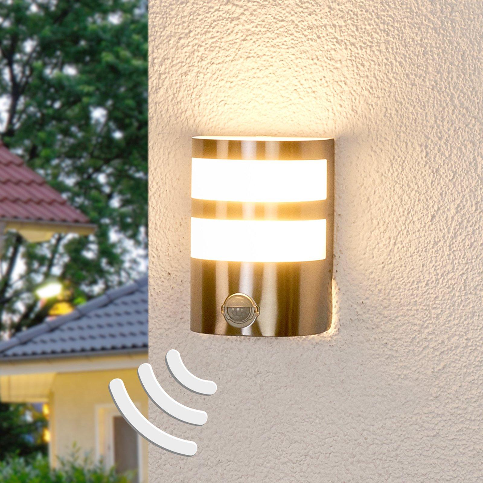 Utendørs LED-vegglampe Lucja, bevegelsessensor