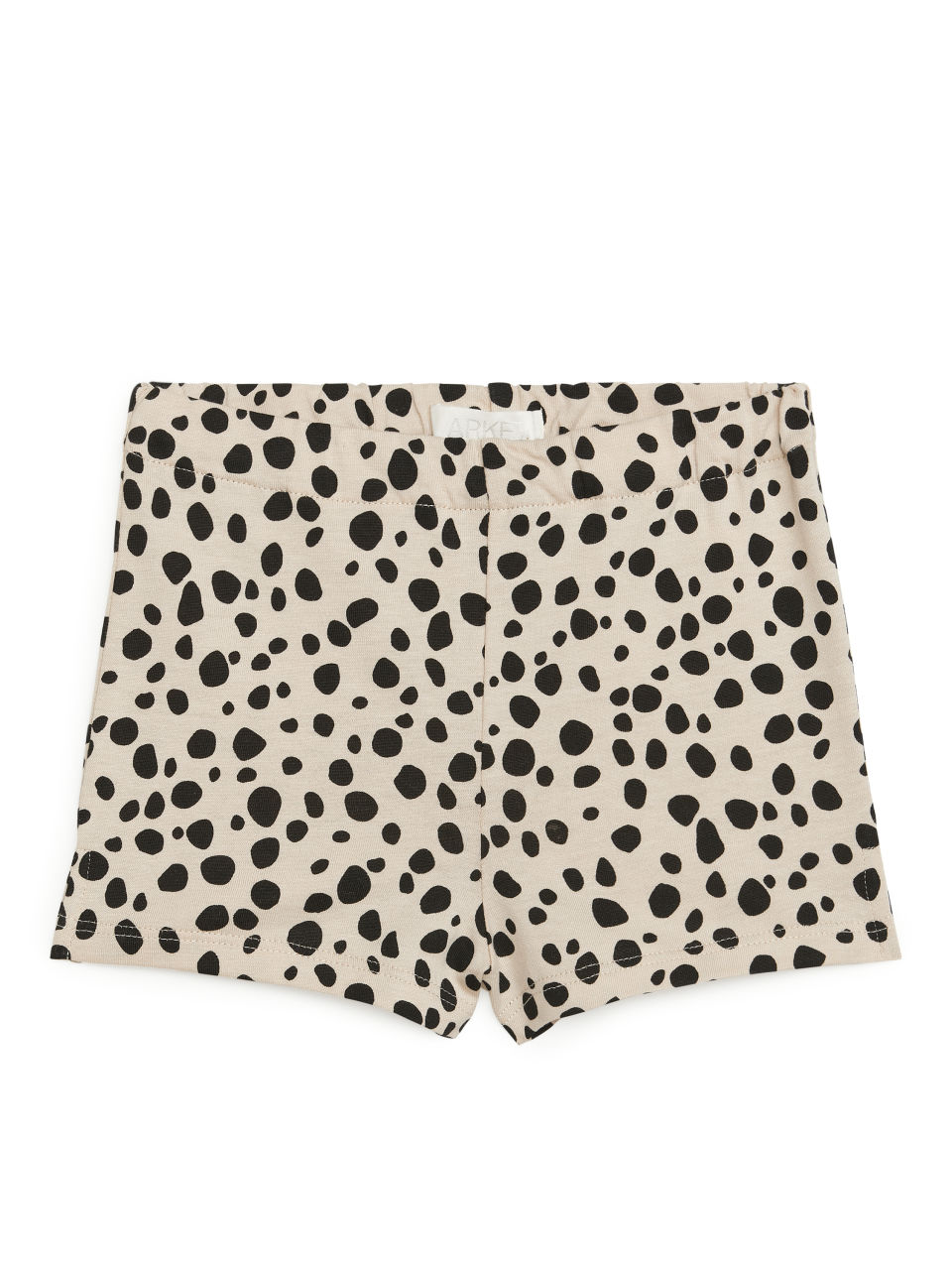 Printed Jersey Shorts - Beige