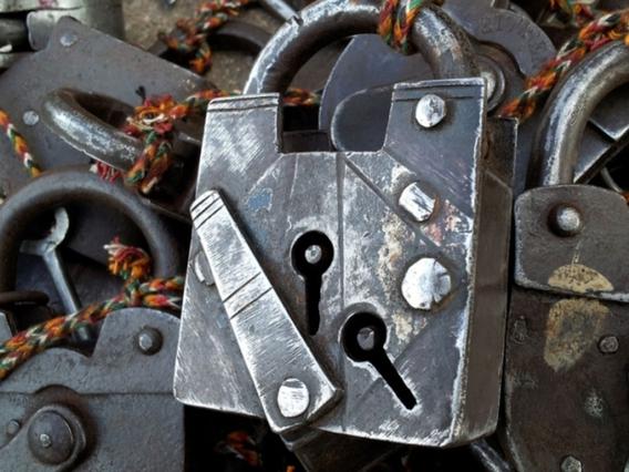 Antique Iron Padlock