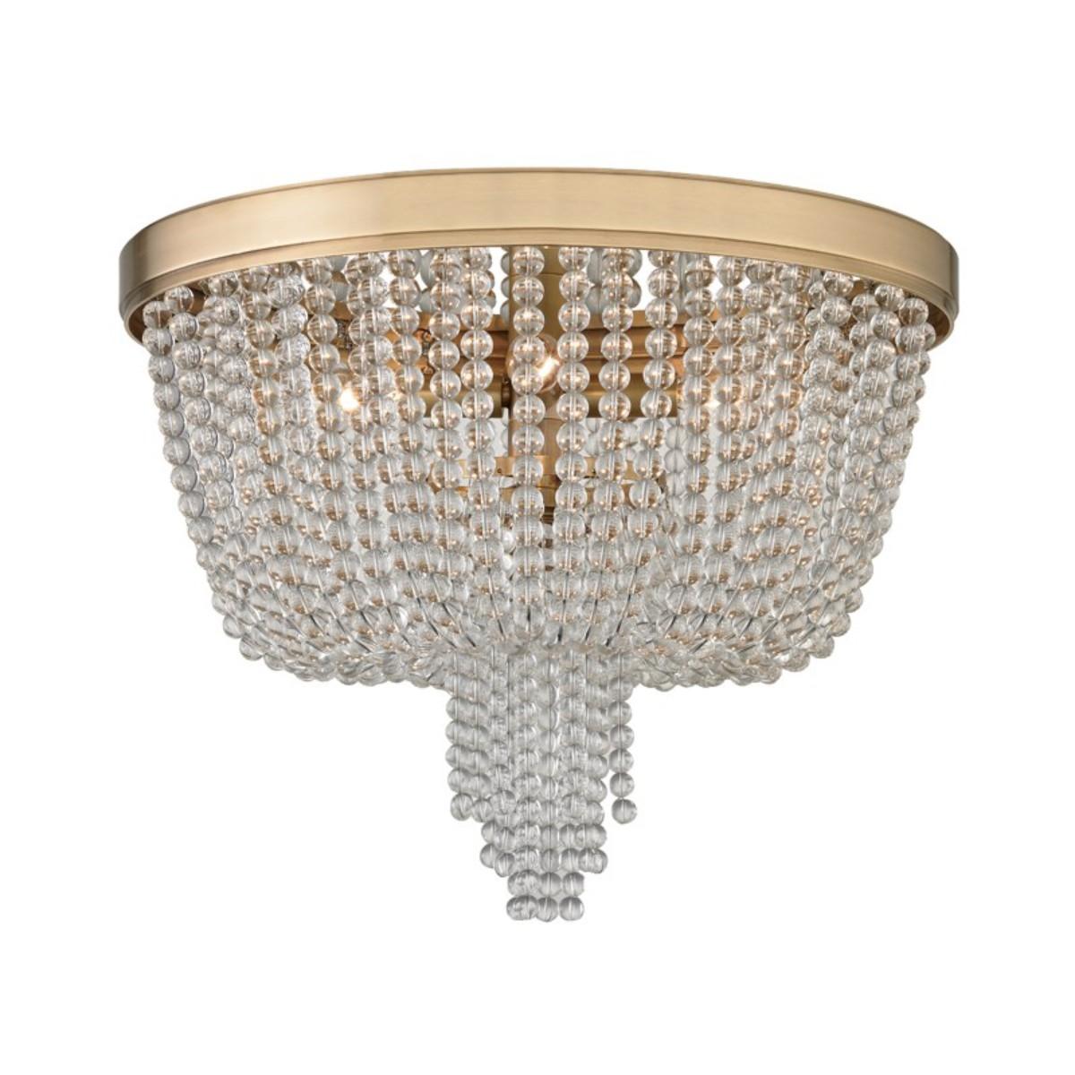 Hudson Valley I Royalton Flush Mount Ceiling Light I Aged Brass