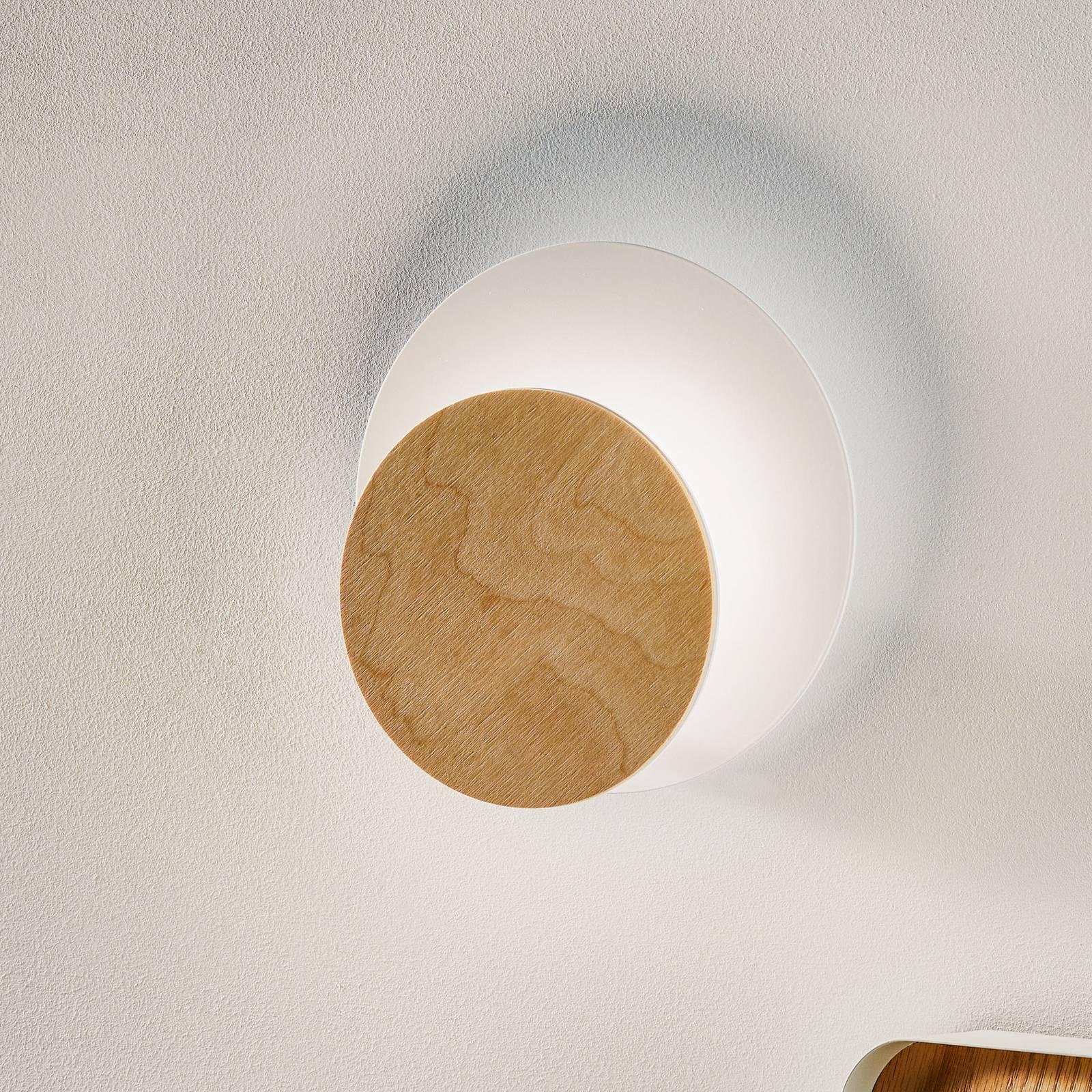Seinävalaisin Circle, valkoinen, vaalea puu