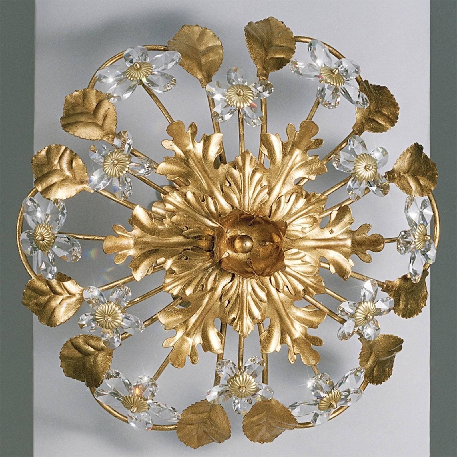 AREZZO taklampe med glassblomster
