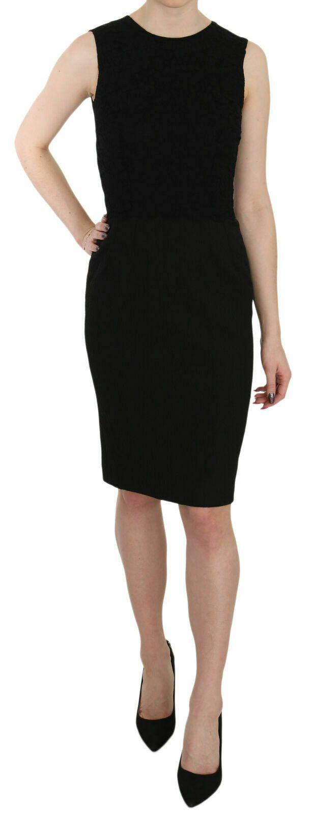 Dolce & Gabbana Women's Laced Top Sheath Dress Black DR1950 - IT42|M