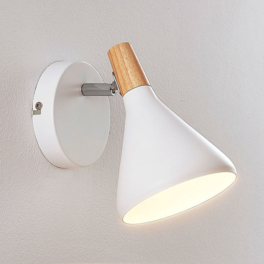 Kaunis LED-seinävalaisin Arina, valkoinen
