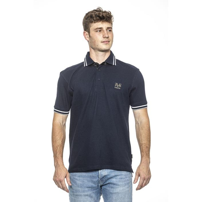 19v69 Italia Men's Polo Shirt Blue 185142 - blue M