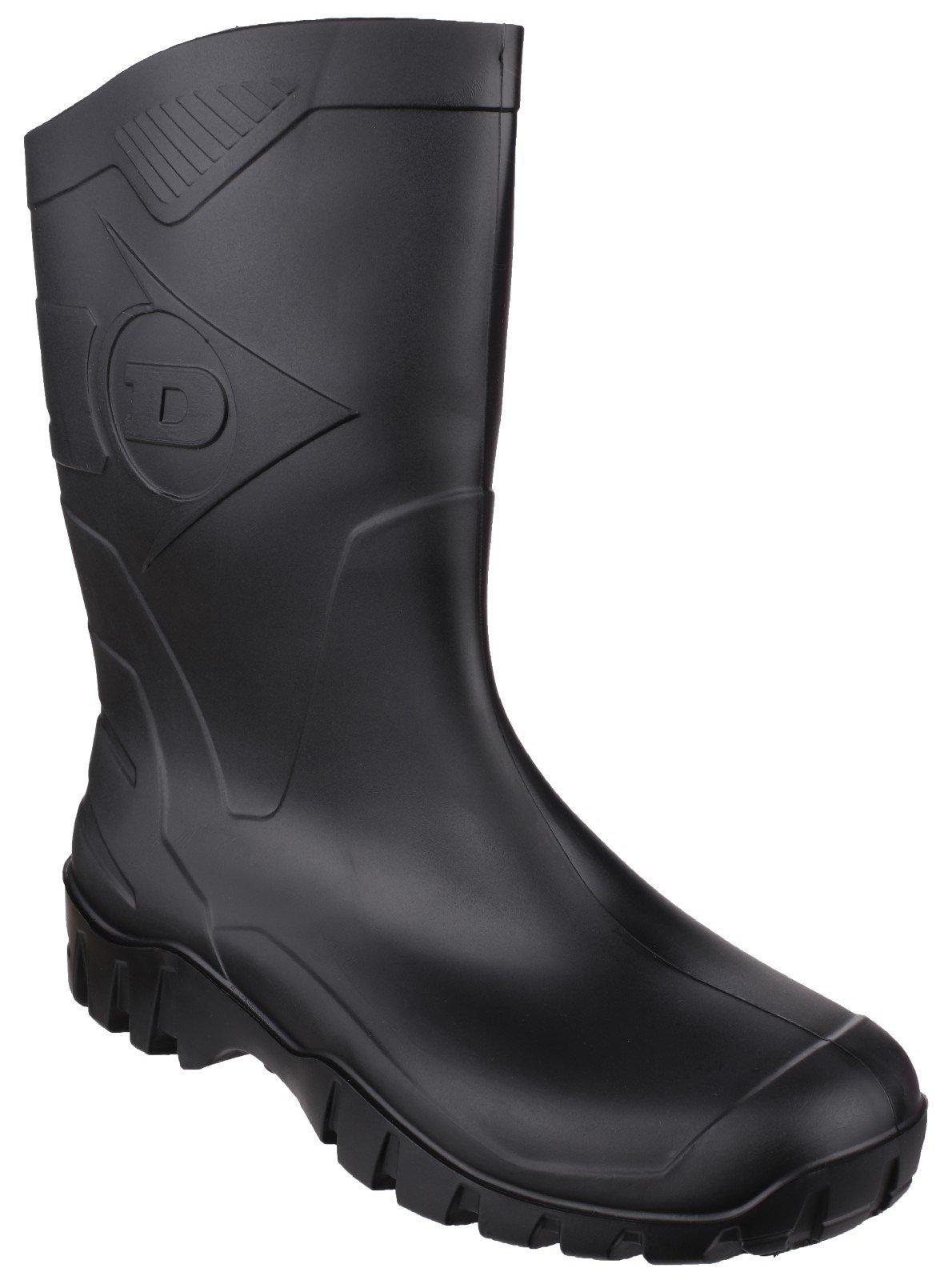Dunlop Unisex Dee Calf Length Wellington Boot Various Colours 21858 - Black 4