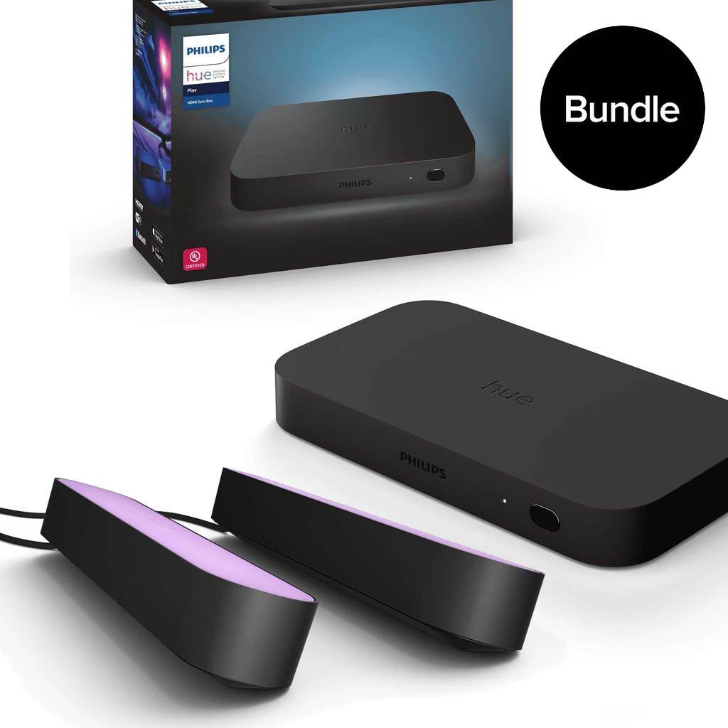 Philips Hue - HDMI Sync Box + Play Light Bars - Bundle
