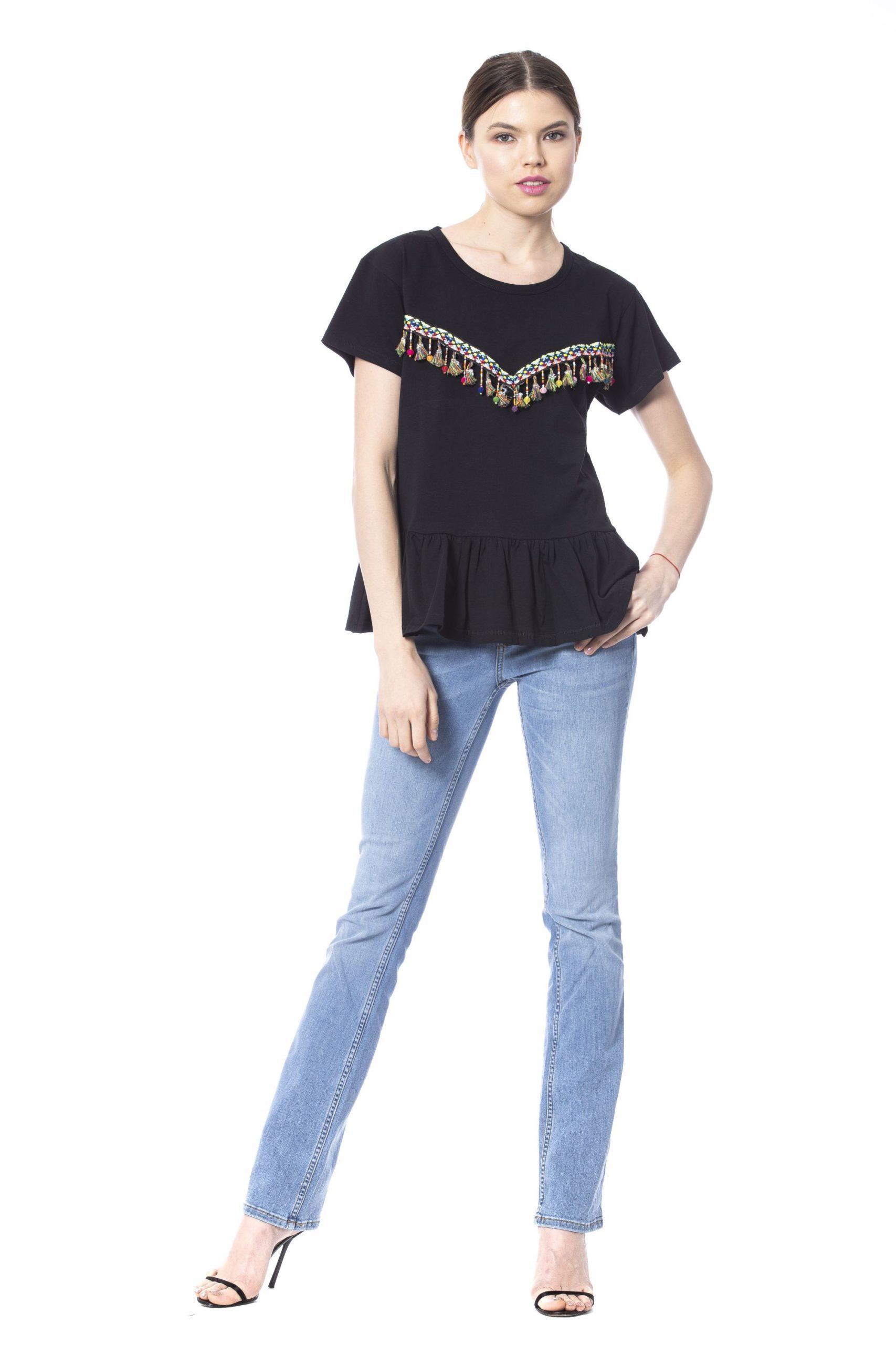 Silvian Heach Women's T-Shirt Black SI1235157 - XS
