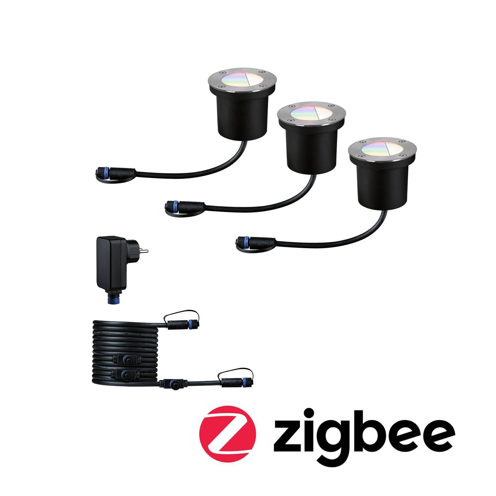 Paulmann Plug & Shine -uppovalo ZigBee RGBW 3 kpl