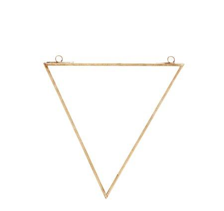 Triangulär speil 20x23 cm - Messing