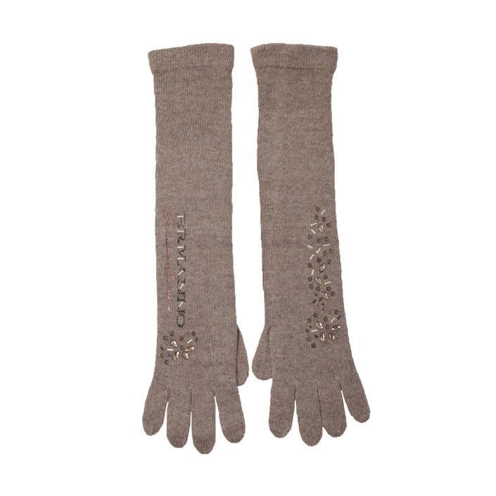 Ermanno Scervino Women's Gloves Brown 159607 - brown UNICA