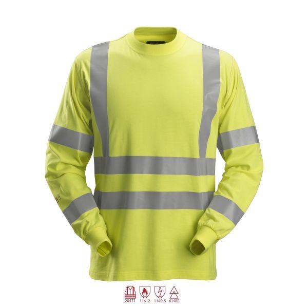 Snickers 2461 ProtecWork T-paita huomioväri, keltainen, pitkähihainen XS
