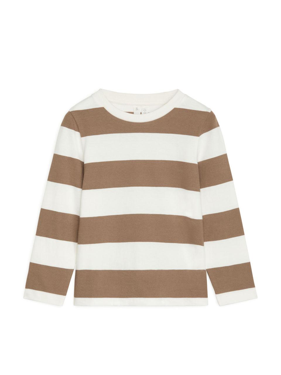 Block Stripe Top - White