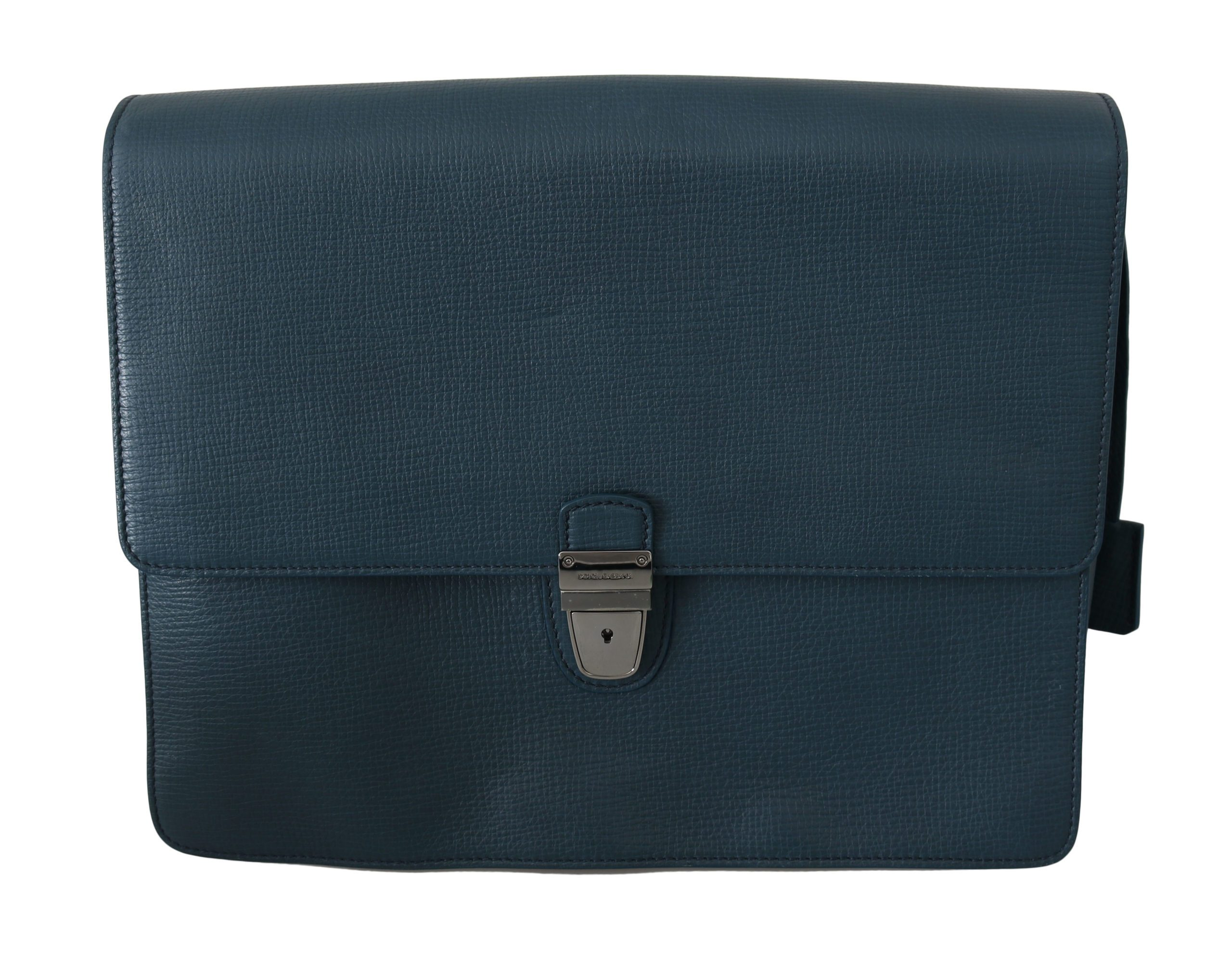 Dolce & Gabbana Men's Laptop Messenger Bag Blue VAS8710