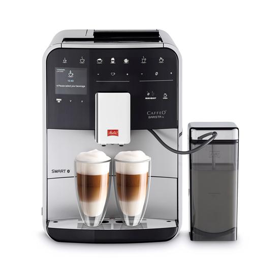 Melitta Barista Ts Smart Silver/black Espressomaskin - Stål Look