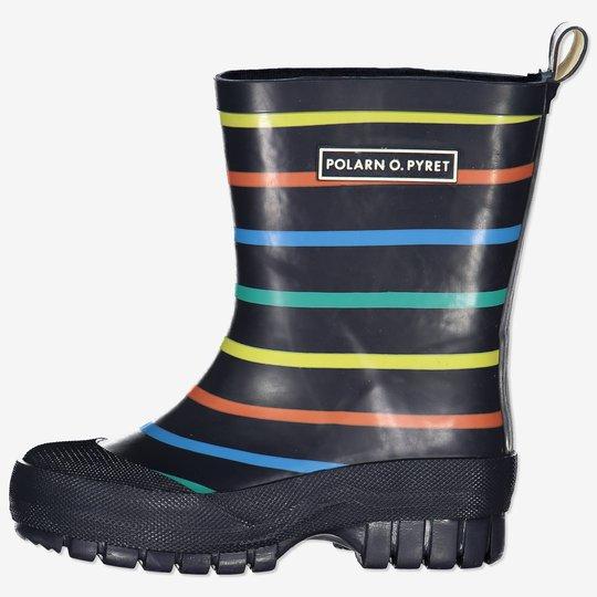 Stripete gummistøvler med forsterkning baby mørkblå
