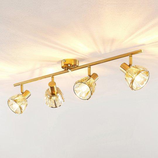 Lindby Kosta taklampe, 4 lyskilder, messing