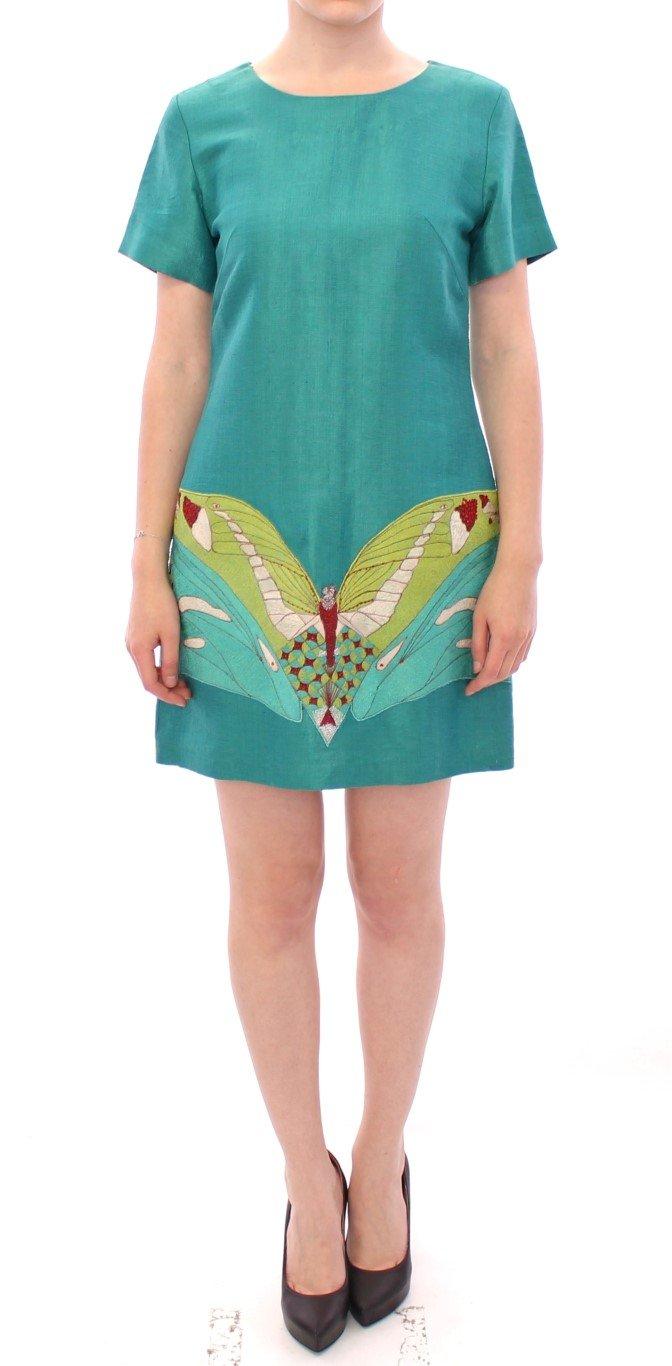 Lanre Da Silva Ajayi Women's Above Knee Mini Dress Green GSS10132 - M