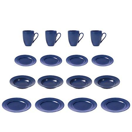 Groovy sett 16 deler Blå