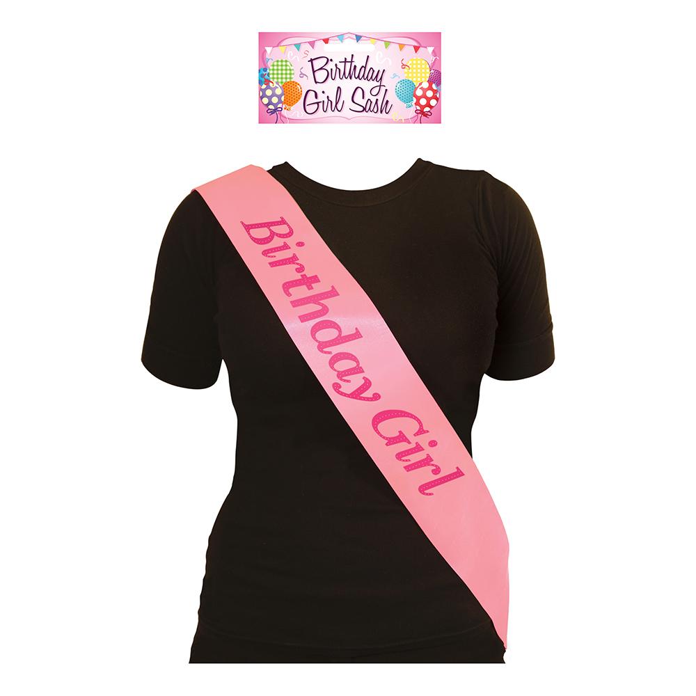 Ordensband Birthday Girl Rosa - One Size