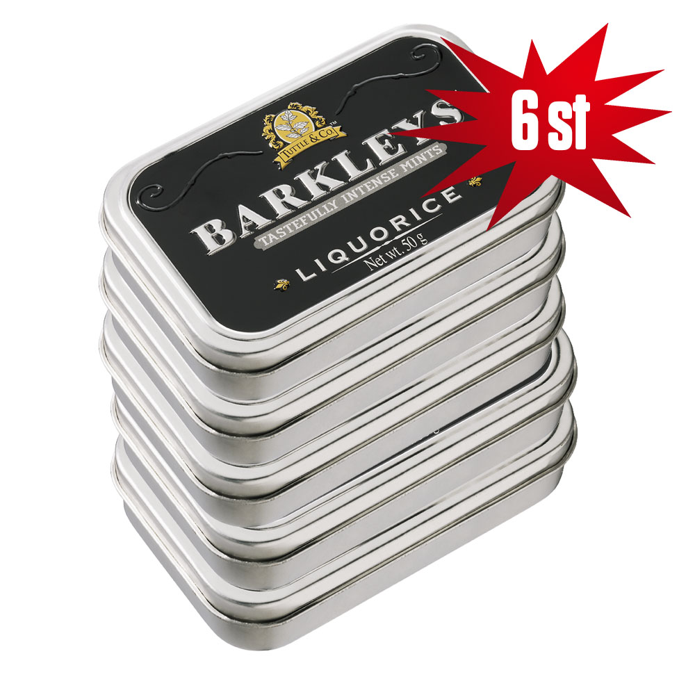BARKLEY'S LIQUORICE 50G - 6ST