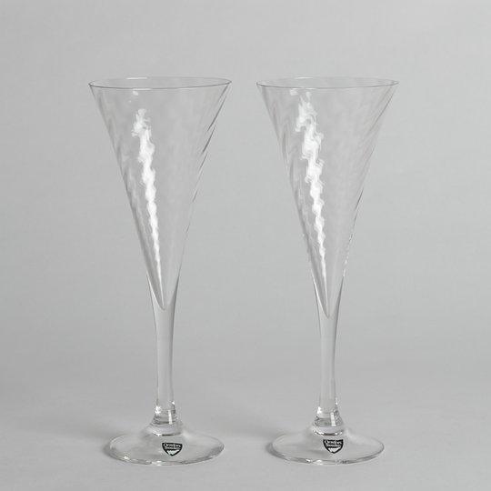 "Orrefors - SÅLD Champagneglas ""Helena"" Gunnar Cyrén 2 st"