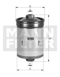 Polttoainesuodatin MANN-FILTER WK 830/5