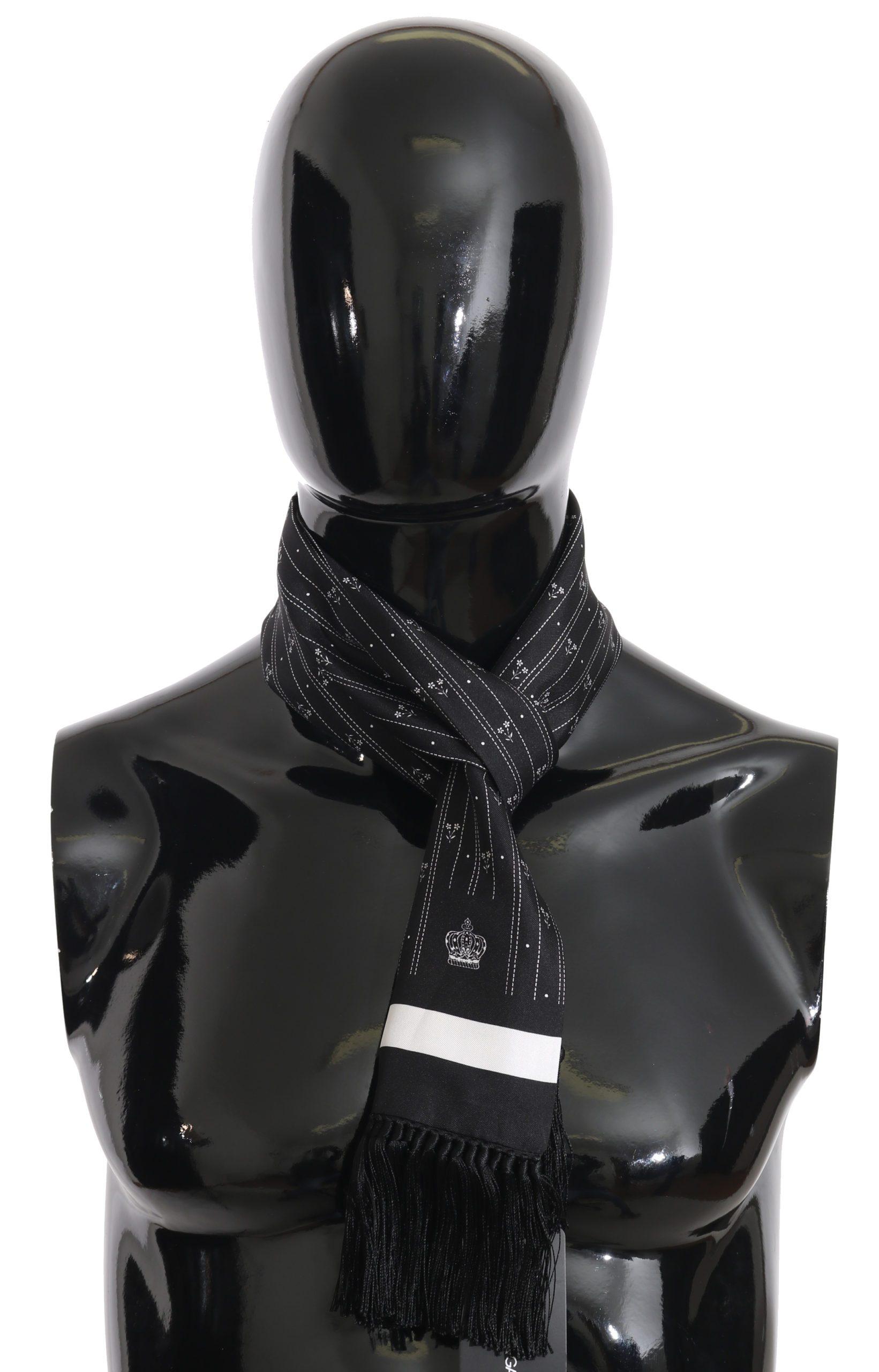 Dolce & Gabbana Men's Scarf Black MS1962