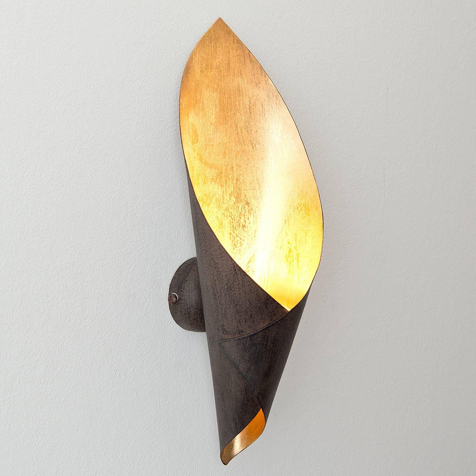 Fiaccola Piccolo - musta-ruskea seinävalaisin