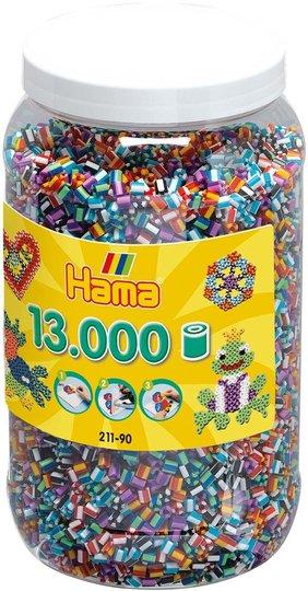 Hama Midi Stripete Perler 13 000 stk. Mix 90