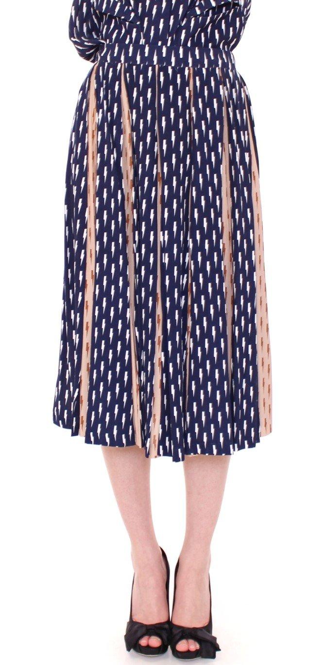 Licia Florio Women's Knee Full Skirt Blue MOM10110 - IT44|L