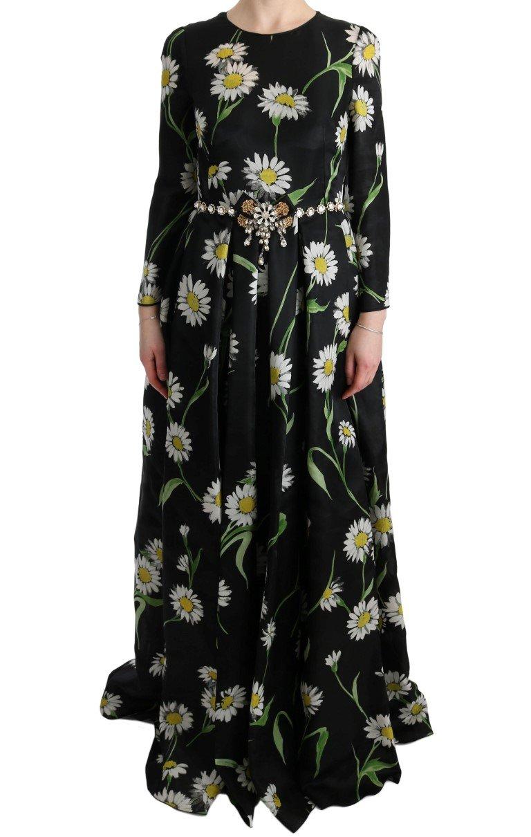 Dolce & Gabbana Women's Silk Sunflower Print Dress Multicolor SIG60646 - IT38|XS