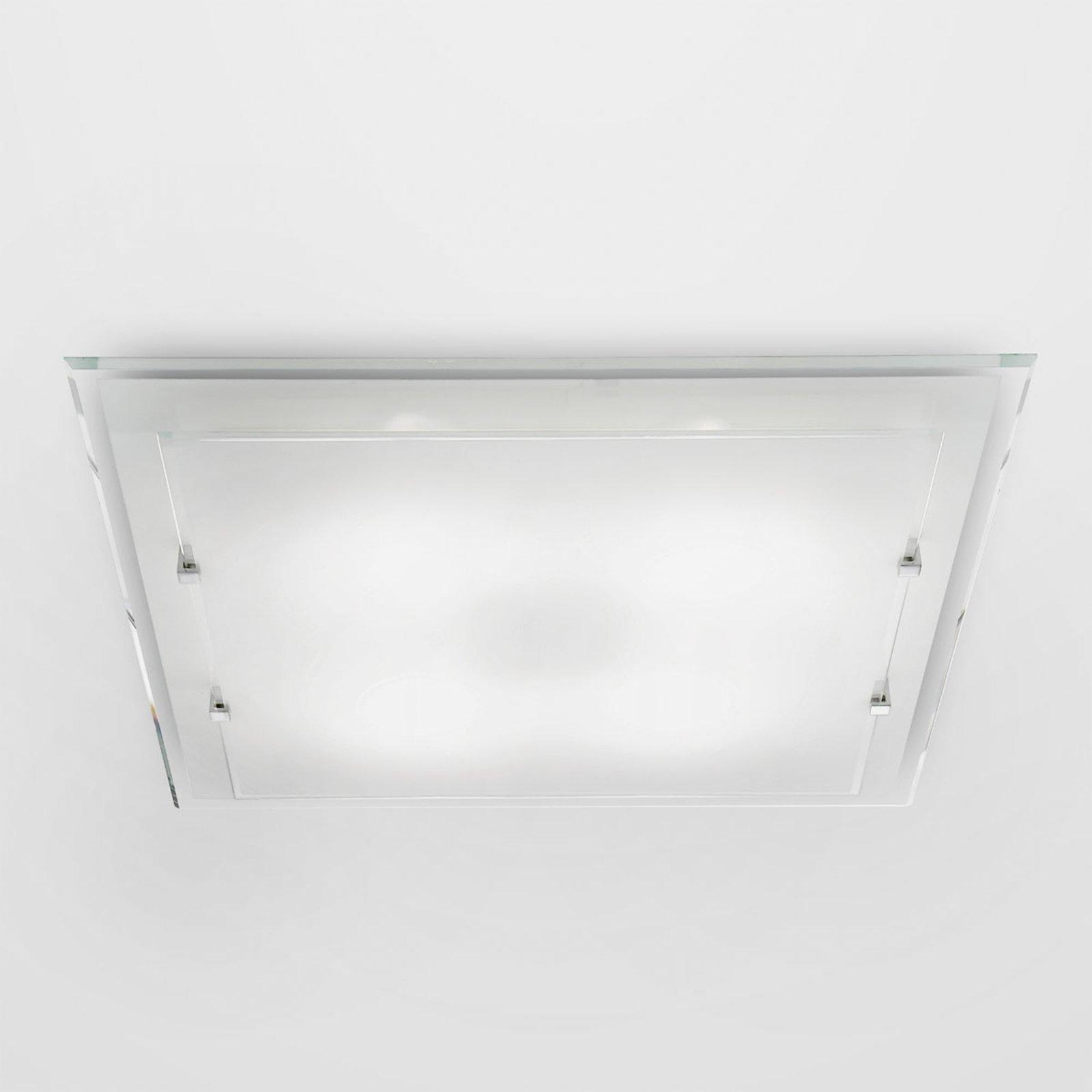 Kantet taklampe Victoria, 40 cm x 40 cm