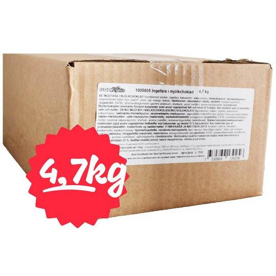 Hel Låda Godis Ingefära Mjölkchoklad 4,7kg - 79% rabatt
