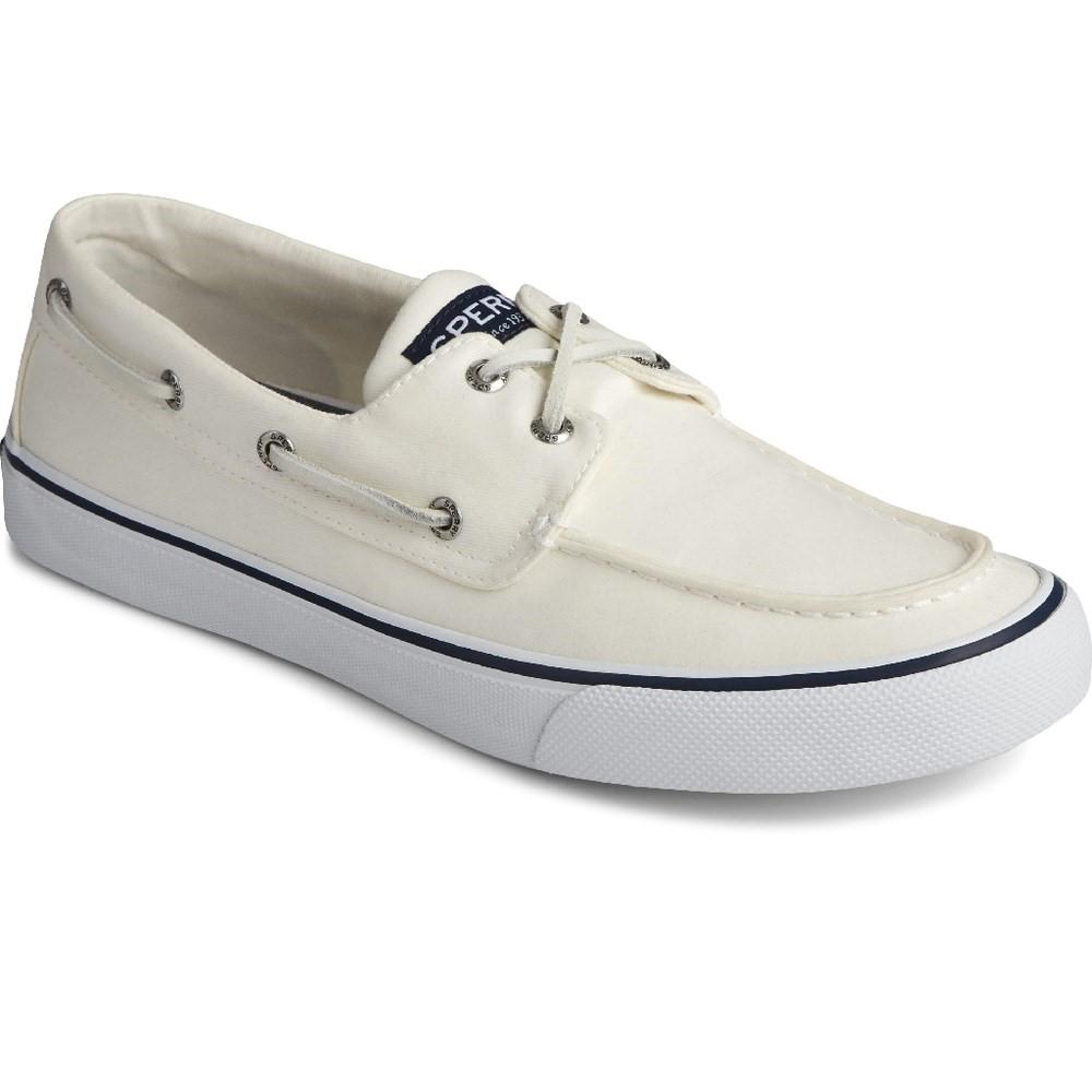 Sperry Men's Bahama II Boat Shoe Various Colours 32923 - Salt Washed White 10