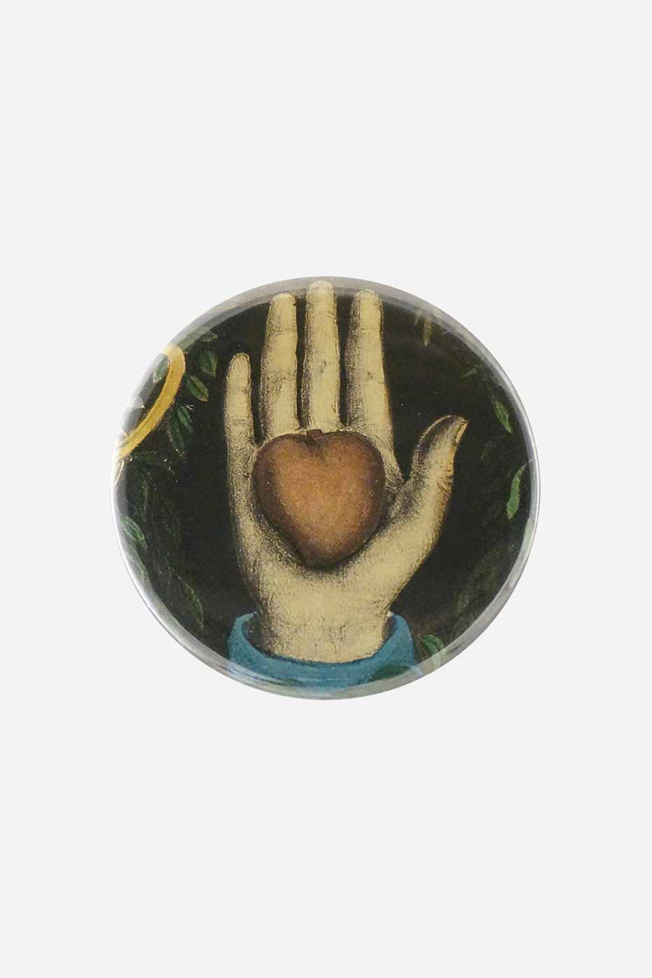 Spegel Hjärta i hand 5,7 cm