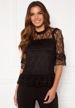 Happy Holly Isabella lace top Black 48/50