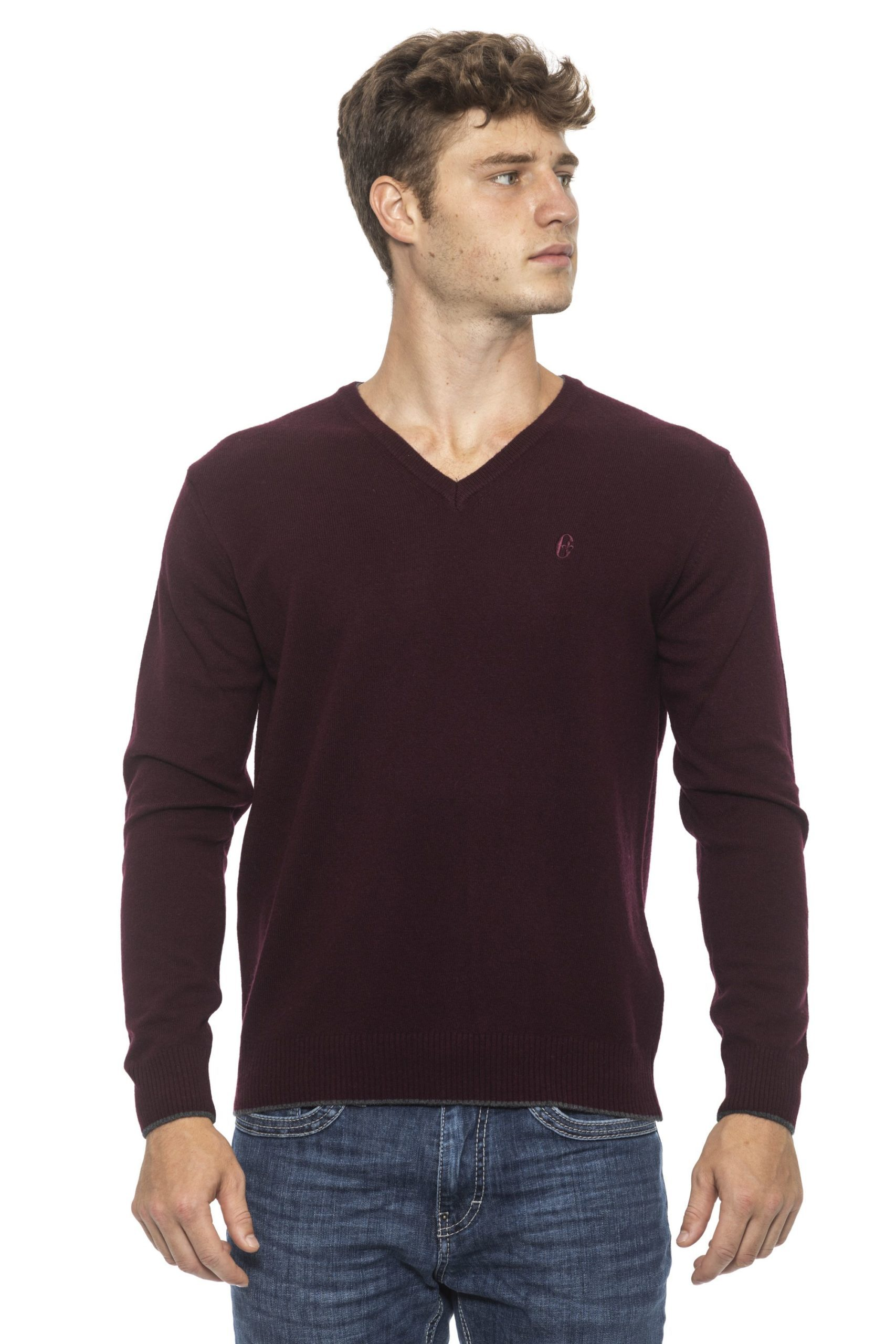 Conte of Florence Men's Sweater Burgundy CO1272816 - S