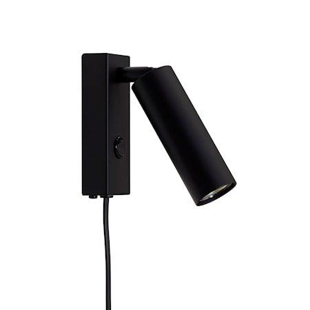 Cato Slim Vegglampe Mattsvart enkel LED