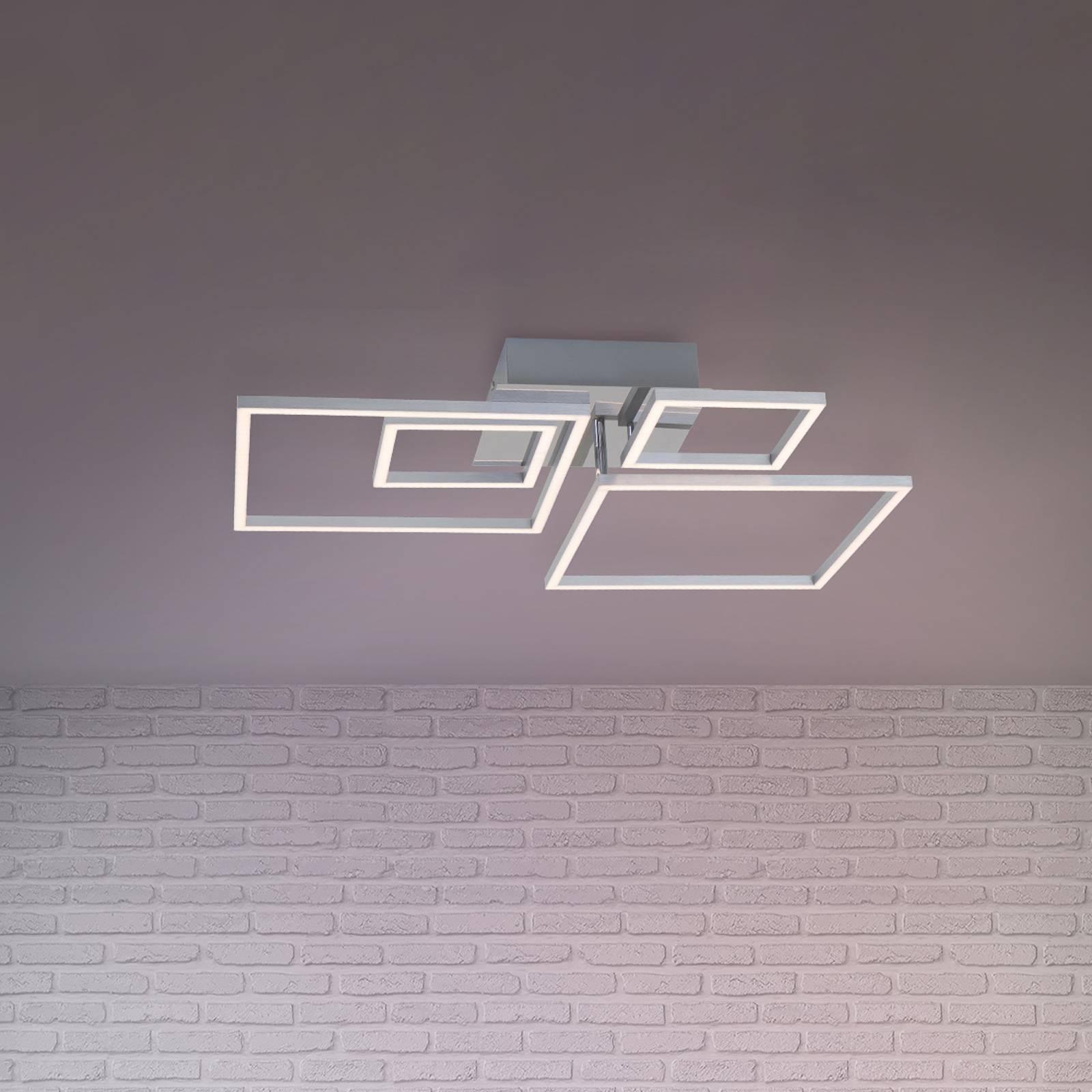 LED-kattovalaisin Frames 2 pientä / 2 isoa neliötä
