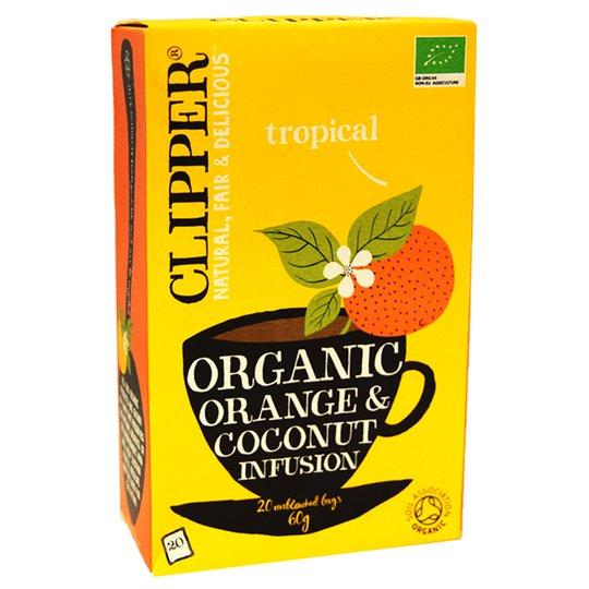 Luomu Hedelmätee Appelsiini ja Kookos 20kpl - 29% alennus