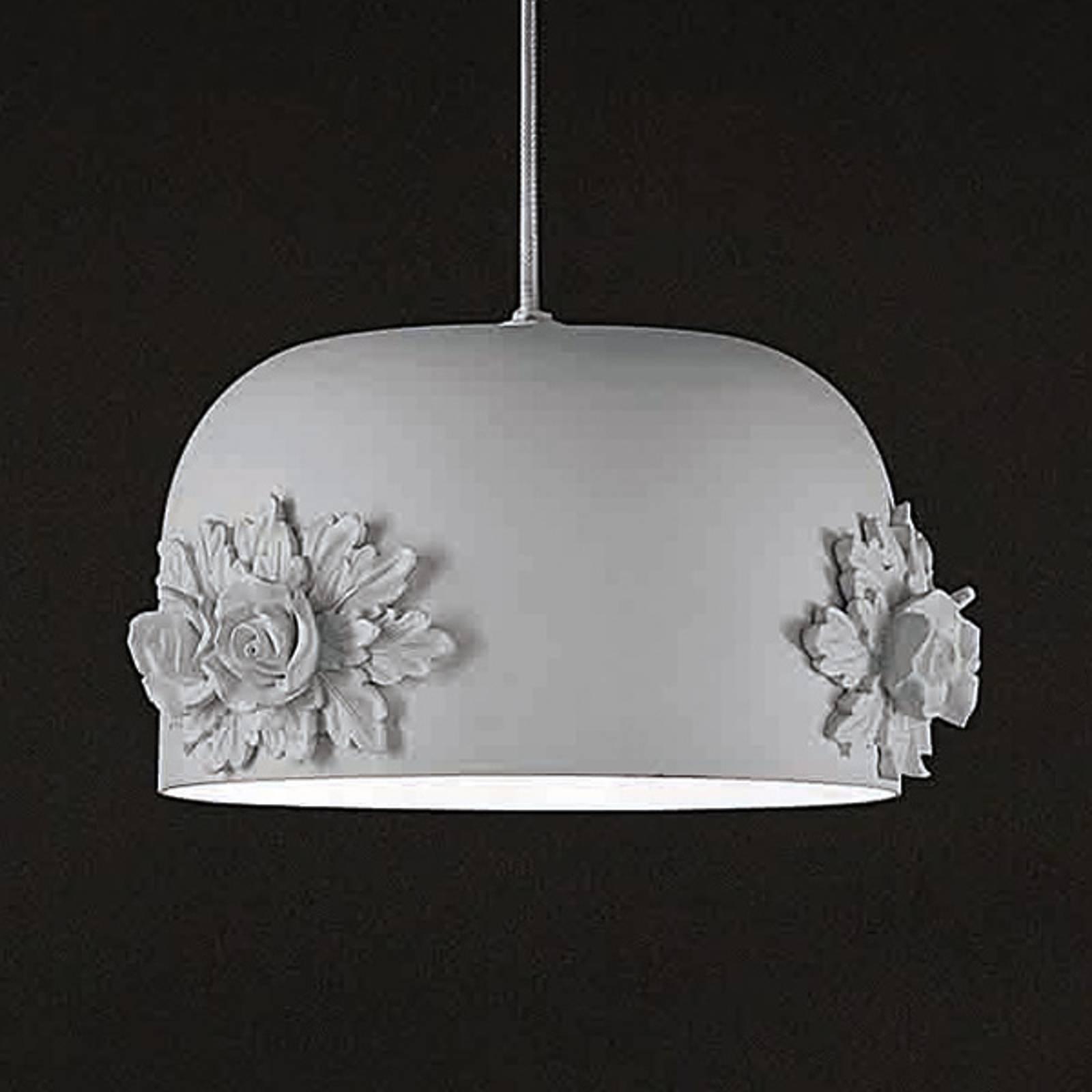 Pieni LED-riippuvalaisin Dame, valkoinen, 18 cm