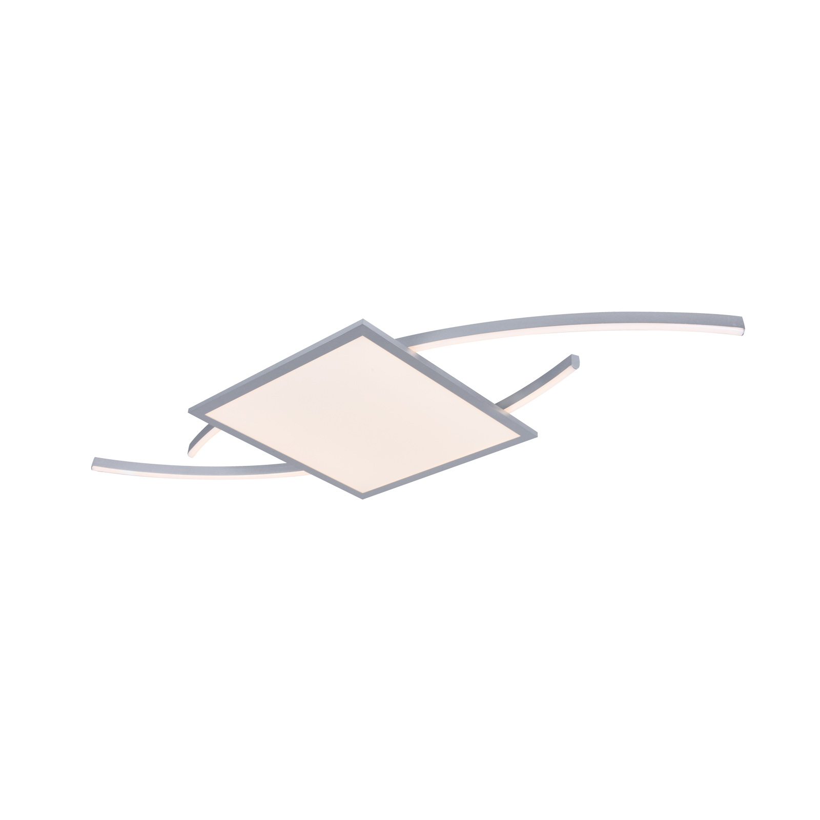 Lucande Tiaro -LED-kattovalaisin, kulmikas 30 cm